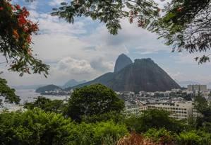 Parte da cidade vista do Mirante do Pasmado, em Botafogo Foto: Marcelo Régua - 11/01/2017 / Agência O Globo