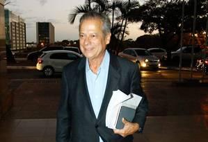 José Dirceu em Brasília, em 2014 Foto: André Coelho / Agência O Globo