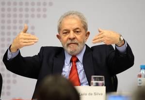 Ex-presidente Lula durante seminário em Brasília, em abril Foto: Jorge William / Agência O Globo