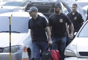 Sérgio Côrtes no dia em que foi preso: tentativa de atrapalhar as investigações Foto: Gabriel Paiva/11-04-2017 / Agência O Globo