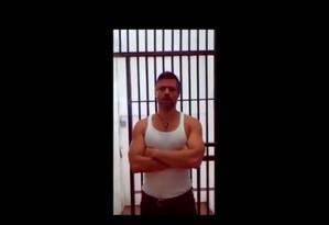 Leopoldo López aparece em vídeo divulgado pelo governo venezuelano Foto: Reprodução