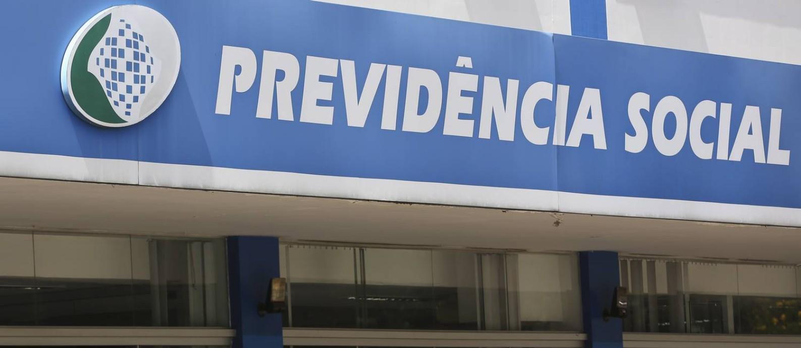 Agência da Previdência na Asa Sul, em Brasília. Foto Michel Filho/Agência O Globo Foto: /