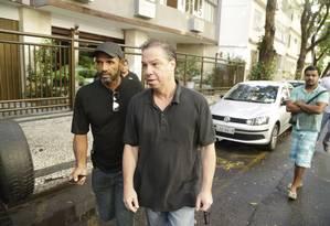 Luiz Carlos Velloso e sua mulher são presos em casa em mais uma etapa da Lava Jato, em Copacabana. Foto: Gabriel de Paiva / Agência O Globo