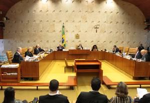 Plenário do Supremo Tribunal Federal (STF) Foto: Divulgação