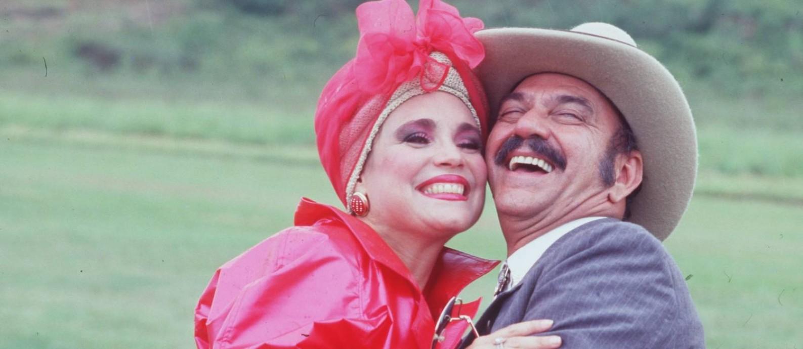 Regina Duarte e Lime Duarte em 'Roque Santeiro' Foto: Reprodução / Reprodução