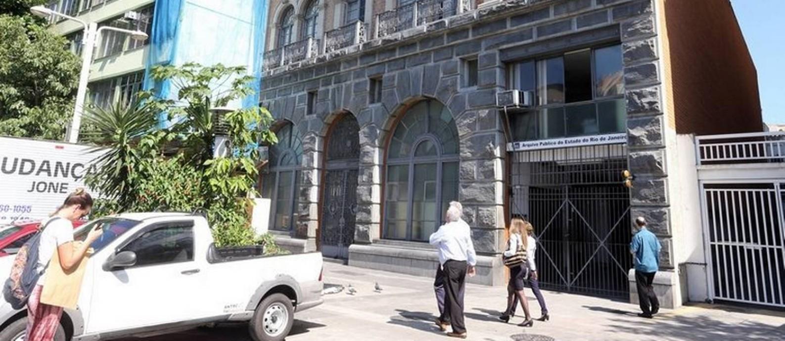 Por conta do corte de luz, Arquivo Nacional precisou fechar as portas Foto: Guilherme Pinto / Agência O Globo