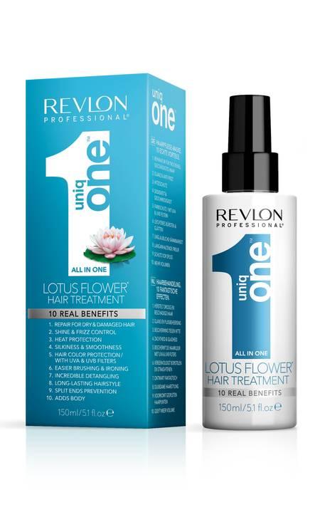 Uniq One Flor de Lótus, da Revlon (revlon.com.br). Oferece dez benfícios, entre eles proteção da cor com filtros UVA e UVB. R$ 180 Foto: Divulgação