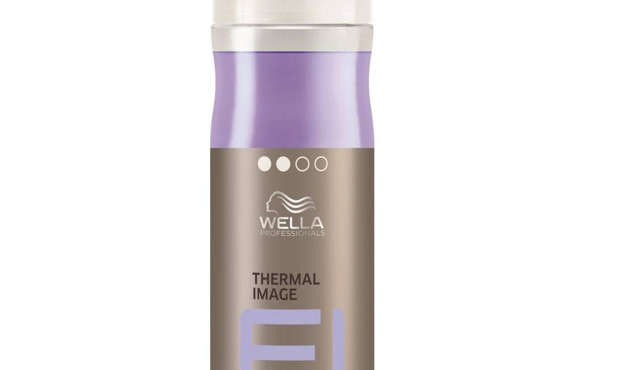 Thermal Image, da Wella (wella.com). Spray bifásico para proteção de calor. R$ 104,80 Foto: Divulgação