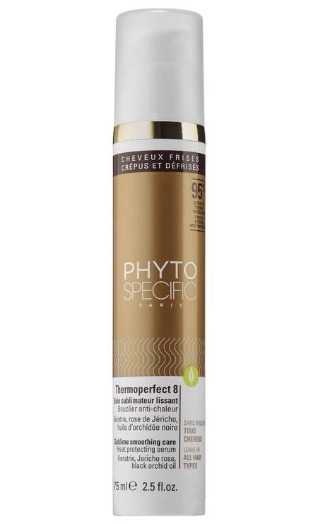 Phytospecific Thermoperfect 8, da Phyto (phyto.pt). Combate o frizz e a quebra e ainda tem proteção térmica Foto: Divulgação