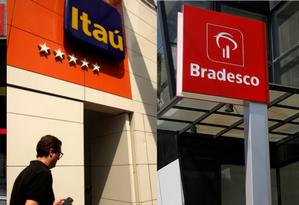 Santander, Itaú Unibando e Bradesco: três maiores instituições financeiras privadas do país Foto: Agência O Globo