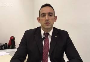 Titular da Desarme, delegado Fabrício Oliveira Pereira Foto: Reprodução Vídeo