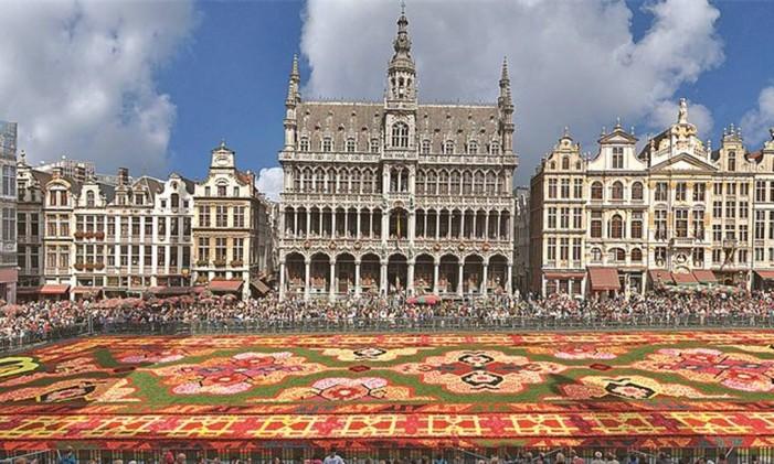 Grand Place, na Bélgica Foto: Flower Carpet 2014/Divulgação