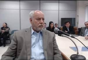 Renato Duque volta a prestar depoimento à Justiça Foto: Reprodução