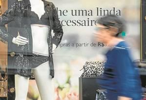 Manequins esquálidos sinalizam um modelo de beleza que pode contribuir para aumento de transtornos Foto: Ana Branco
