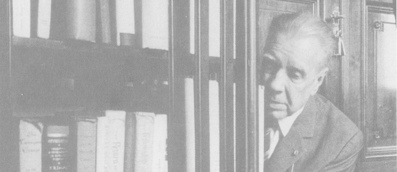 Jorge Luis Borges, em 1973 Foto: Arquivo