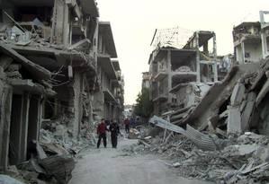Guerra na Síria já matou cerca de 320 mil pessoas Foto: Anonymous / AP