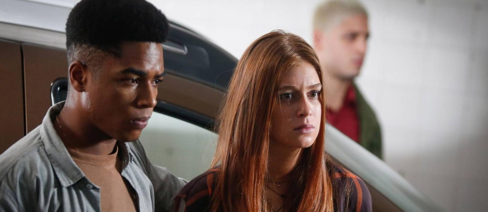 Marina Ruy Barbosa estrela 'Sequestro relâmpago' ao lado de Sidney Santiago Foto: Marcos Alves / Agência O Globo