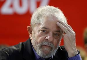 Ex-presidente Lulua, em congresso em São Paulo Foto: STRINGER / REUTERS