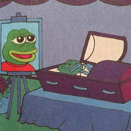 Ilustrador Matt Furie desenho o 'funeral' de Pepe Foto: Reprodução