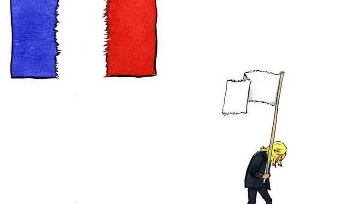 Le Pen perde com 30% dos votos, deixando Macron na liderança de um país dividido MOSHE GILULA