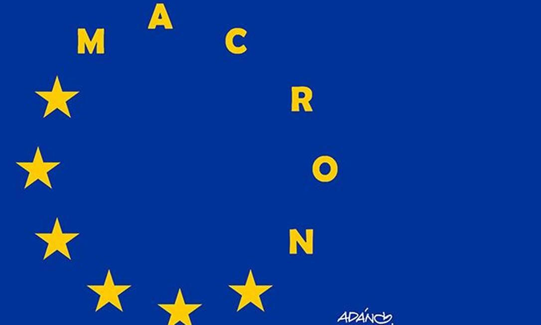 A integração europeia está salva: o centrista Emmanuel Macron é pró-União Europeia, ao contrário de sua rival Marine Le Pen ADÁN IGLESIAS TOLEDO