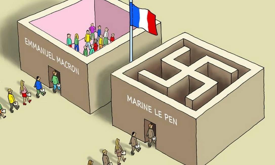 A charge de Marian Kamensky faz uma crítica aos eleitores de Marine Le Pen MARIAN KAMENSKY