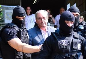 O ex-deputado Eduardo Cunha está preso em Curitiba, desde outubro do ano passado Foto: Geraldo Bubniak / 20-10-2016