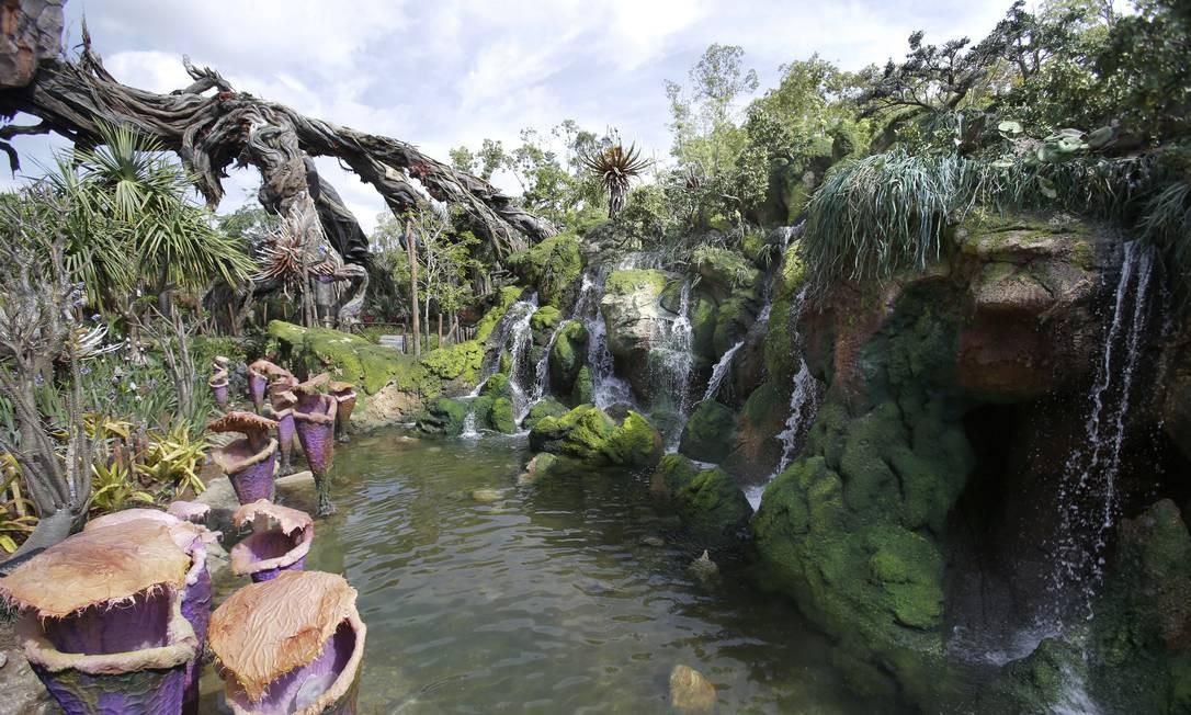 A área tem 48 mil m² e é repleta de natureza, com rios, lagos e quedas d'água Foto: John Raoux / AP