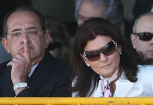 Gilmar Mendes e sua esposa Guiomar, durante desfile de 7 de Setembro Foto: Roberto Stuckert Filho/Presidência/07-09-2007