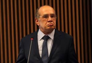 O ministro do Supremo Tribunal Federal (STF) Gilmar Mendes Foto: Givaldo Barbosa / Agência O Globo 27/04/2017