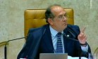 Bate-boca. O presidente do STF, Gilmar Mendes, discute com o ministro Joaquim Barbosa em sessão no Supremo Foto: 22/04/2009 / Reprodução de TV