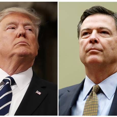 O presidente dos EUA, Donald Trump, demitiu o diretor do FBI, James Comey, em maio Foto: GARY CAMERON / REUTERS
