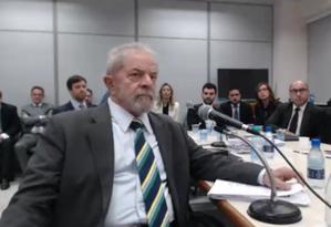 Lula presta depoimento do juiz Sergio Moro Foto: Reprodução