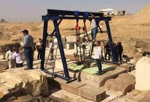Sítio arqueológico em Dashur Foto: Ministério de Antiguidades