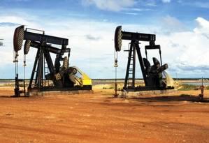 Extração de petróleo em terra. Foto: Divulgação/Petrobras