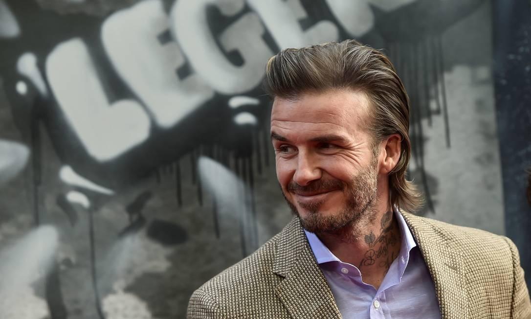 David Beckham na première europeia de 'Rei Arthur - A Lenda da Espada', em Londres Foto: HANNAH MCKAY / REUTERS