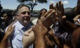 O ex-governador Anthony Garotinho deixa o Fórum de Campos para depor no processo sobre compra de votos