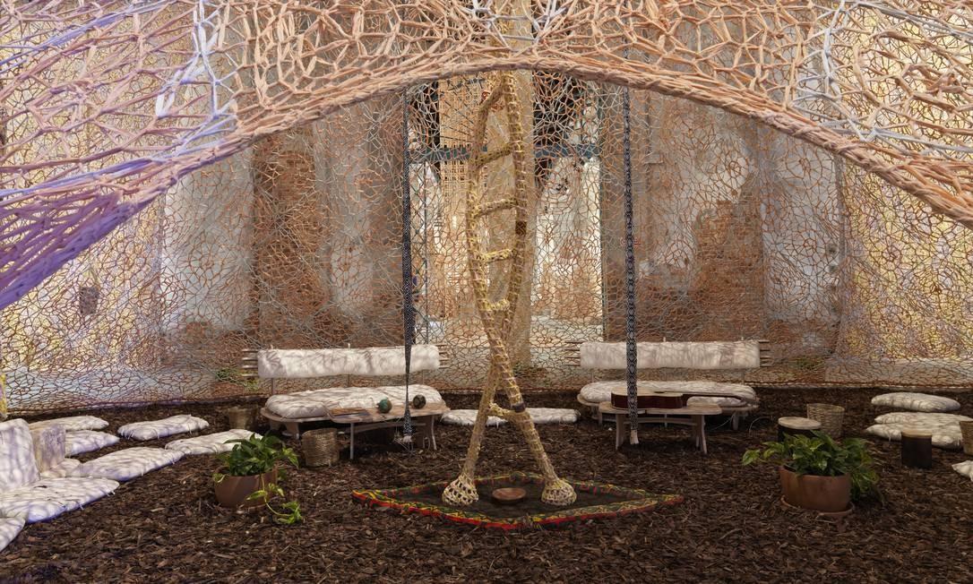 """""""A Sacred Place"""", do brasileiro Ernesto Neto Foto: Dario Lasagni / Divulgação"""