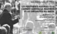 Cartaz anuncia a palestra de Lula