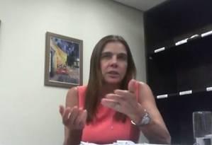 A empresária Mônica Moura, em depoimento de delação premiada Foto: Reprodução