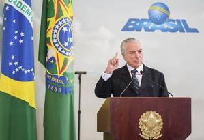 Presidente Michel Temer defende exonerar 'infiéis' Foto: EVARISTO SA / AFP
