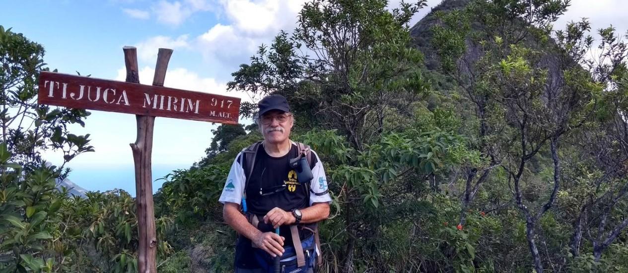 Montanhista e analista de sistemas, Horácio Ragucci passou 15 dias fazendo o percurso Foto: Agência O Globo