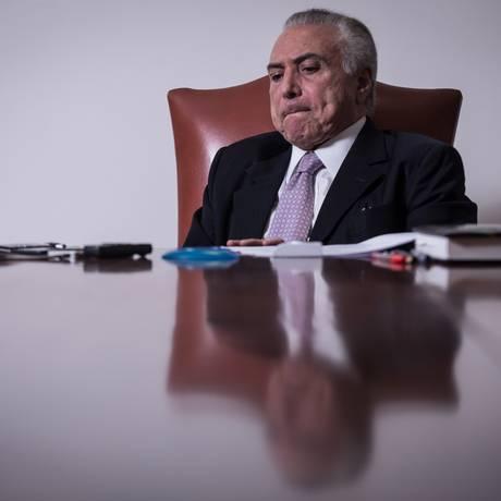 O presidente Michel Temer Foto: ANDRE COELHO / Agência O Globo