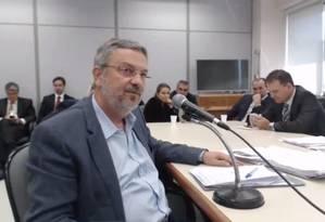 O ex-ministro Antonio Palocci, preso na Lava-Jato, optou por buscar um acordo com os procuradores de Curitiba Foto: Reprodução