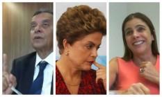 João Santana e Mônica Moura acusaram Dilma de saber de contas no exterior para caixa dois Foto: Montagem/O GLOBO
