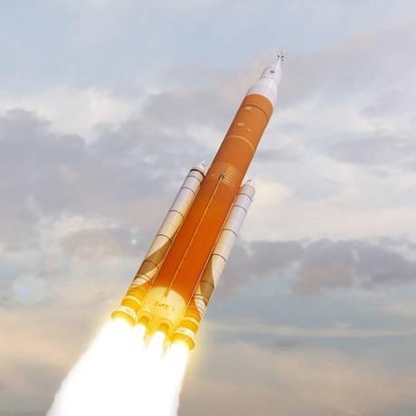 Ilustração do foguete em desenvolvimento Foto: Nasa