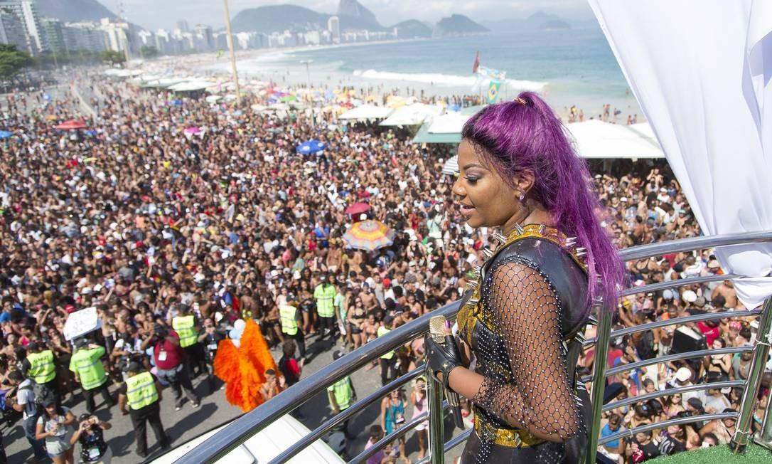 Em 2016, uma das grandes sensações foi a presença da funkeira Ludmilla Foto: Leo Martins / Agência O Globo