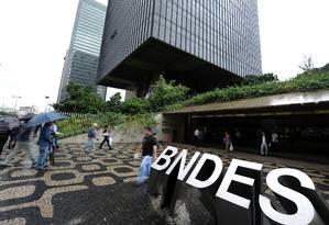 A sede do BNDES, no Centro do Rio Foto: VANDERLEI ALMEIDA / AFP
