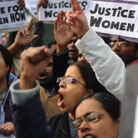 Indianos protestam contra cultura do estupro no país Foto: SAJJAD HUSSAIN / AFP
