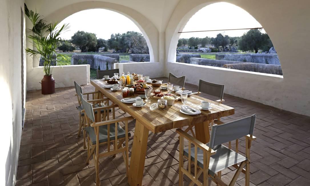 Café da manhã na herdade São Lourenço do Barrocal Foto: Nelson Garrido / Divulgação